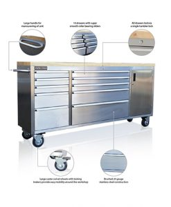 Stainless steel tool chests