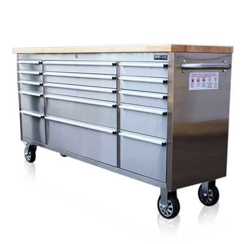 Stainless Steel Tool Chest Box Bench 72 Quot Wooden Worktop