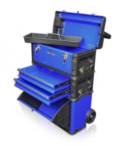 Plastic mobile tool storage boxes