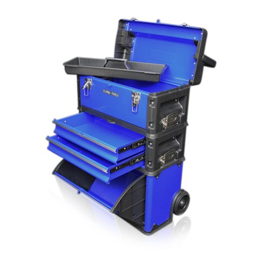 Plastic mobile tool storage boxes