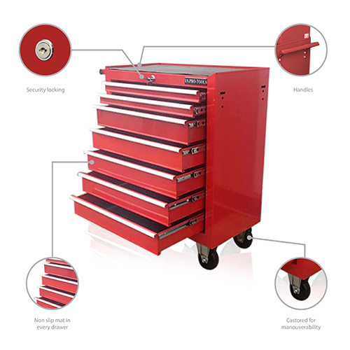 7 DRAWER ROLL CABINET TOOL BOX - US PRO TOOLS