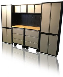Garage heavy duty storage cupboards