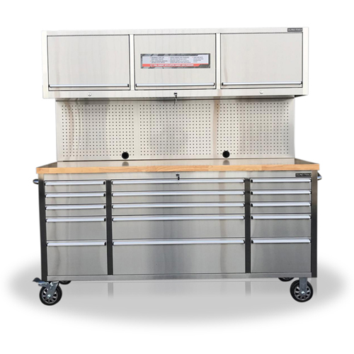 Stainless Steel 72 Roller Cabinet Tool Box, Stainless Steel Tool Cabinet
