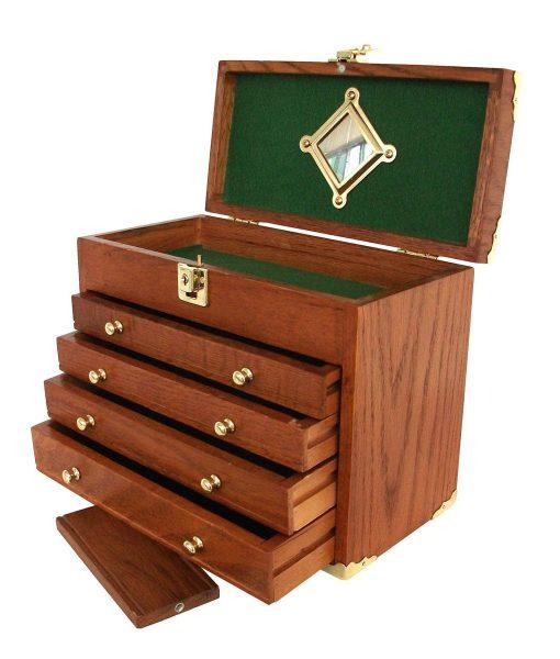 Portable Wood Storage Cabinet : Solid hard wood portable tool box us pro tools