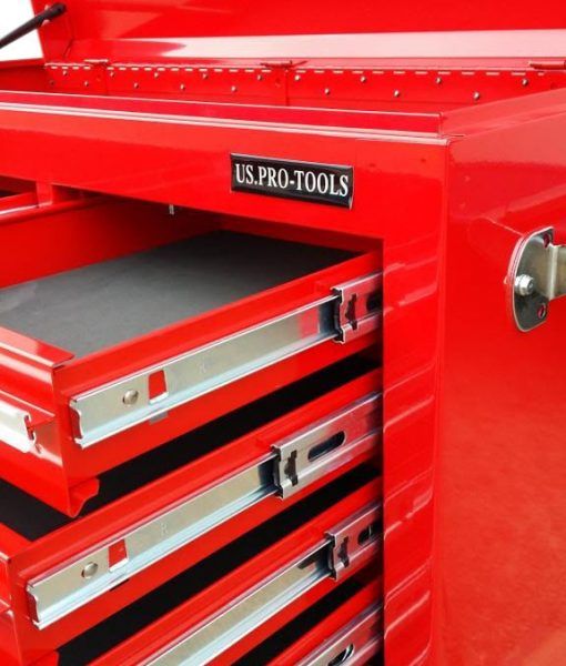 US PRO Tools Red Tool Chest Cabinet Box