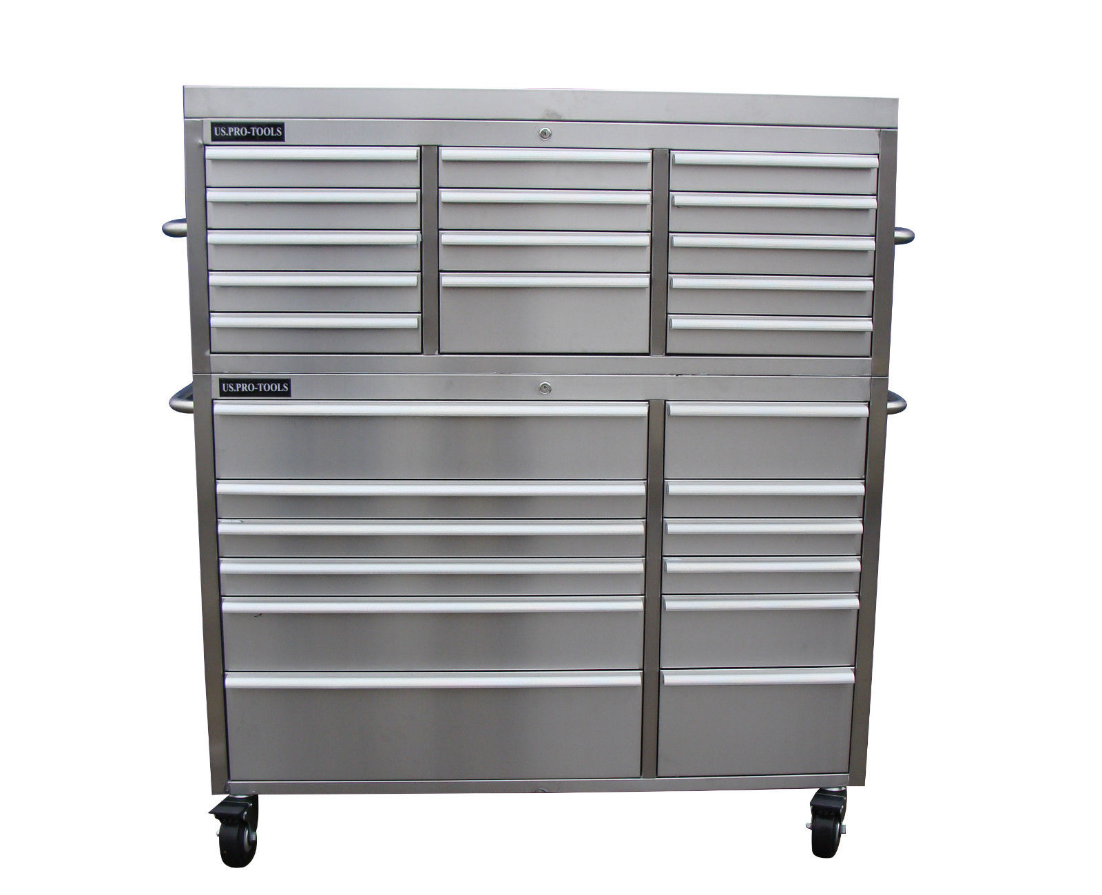 stainless steel tool cabinet us pro tools 54 wide. Black Bedroom Furniture Sets. Home Design Ideas